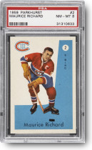 1959 Parkhurst Maurice Richard #2 PSA NM-MT 8
