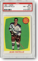 1961-62 Topps Jean Ratelle #60 PSA NM-MT 8