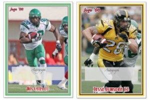 2008 Jogo CFL Signature samples