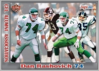 2013 Jogo CFL Alumni Association card #4 Dan Rashovich