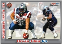 2013 Jogo CFL Alumni Association card #5 Bryan Chiu