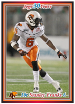 2010 Jogo CFL Rookie card sample
