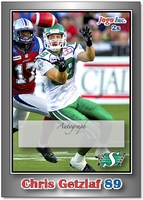 2010 Jogo CFL Chris Getzlaf sample signature card