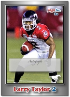 2010 Jogo CFL Larry Taylor sample signature card