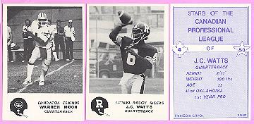 picture of 1981 Jogo CFL football cards