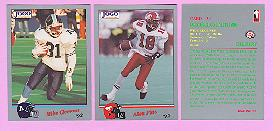 picture of 1992 Jogo CFL football cards
