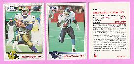 picture of 1993 Jogo CFL football cards