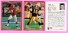 picture of 1996 Jogo CFL football cards