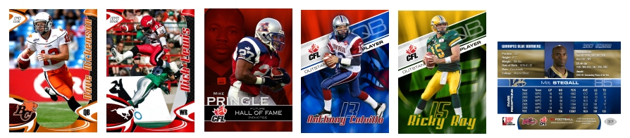 2007 Extreme Sports CFL cards picture