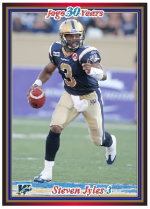 2010 Jogo CFL regular sample card front
