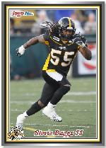 2011 Jogo CFL sample card front