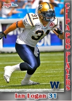 2012 Jogo CFL pro players card