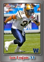 2012 Jogo CFL regular sample card front