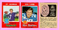 picture of 1971 OPC CFL football cards