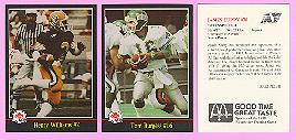 picture of 1988 Jogo Black League Variation CFL football cards