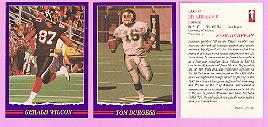 picture of 1989 Jogo Purple Variation CFL football cards