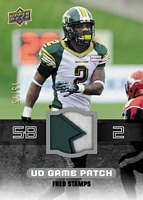 2014 Upper Deck CFL Football game patch card