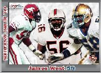 2014 Jogo CFL alumni James West card front