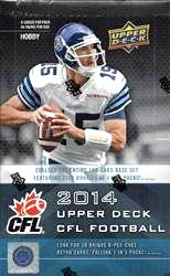 2014 Upper Deck CFL Football Cards foil box