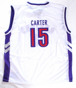 Vince Carter Toronto Raptors white replica basketball jersey back