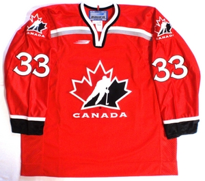 Team Canada 1998 Olympic  red authentic pro hockey jersey