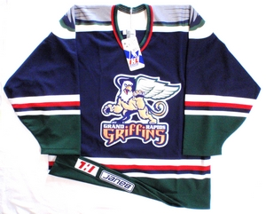 Grand Rapids Griffins blue authentic pro hockey jersey