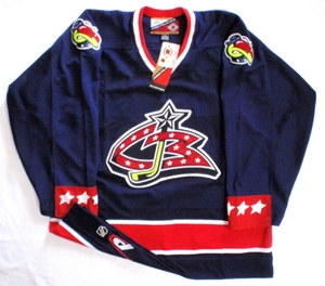 Columbus Blue Jackets authentic pro hockey jersey