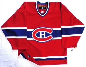 Montreal Canadiens authentic pro hockey jersey