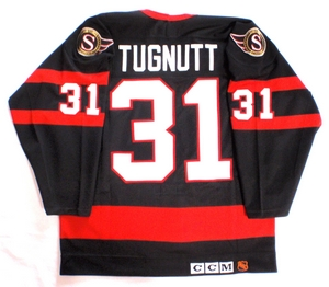 Ottawa Senators authentic pro hockey jersey back