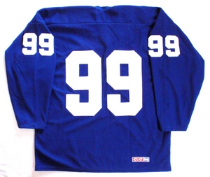 New York Rangers practice hockey jersey back