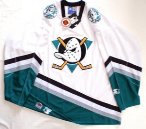 Anaheim Mighty Ducks semi-pro hockey jersey