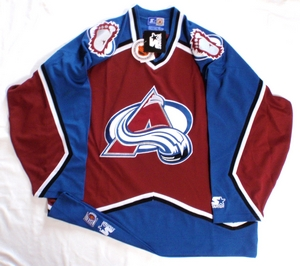 Colorado Avalanche semi-pro hockey jersey