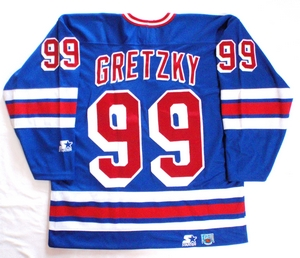 New York Rangers semi-pro hockey jersey back