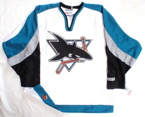 San Jose Sharks semi-pro hockey jersey