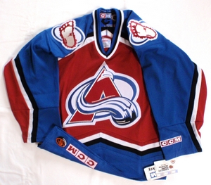 Colorado Avalanche semi-pro youth hockey jersey