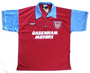 West Ham United FC soccer jersey