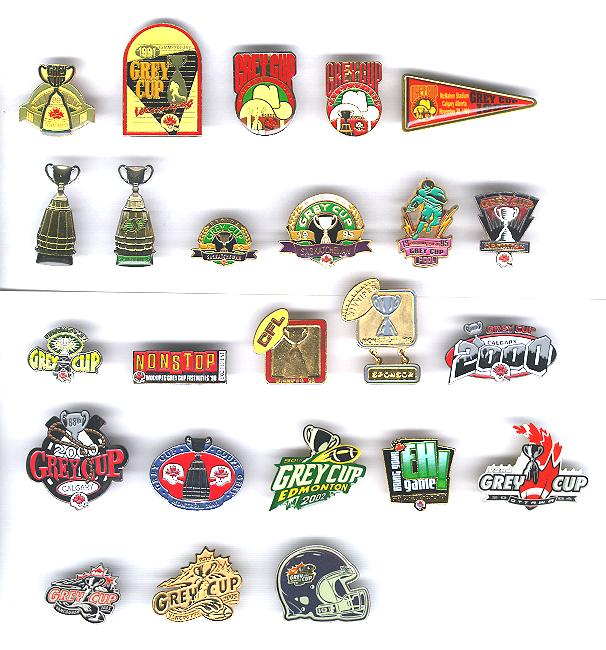 CFL GREY CUP PINS Canadian Football League Grey Cup Pins