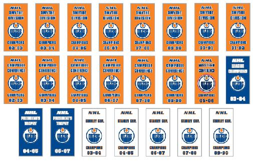 23 Edmonton Oilers Champions Banner pins