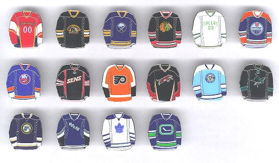 NHL Reebok Third Jersey Pins