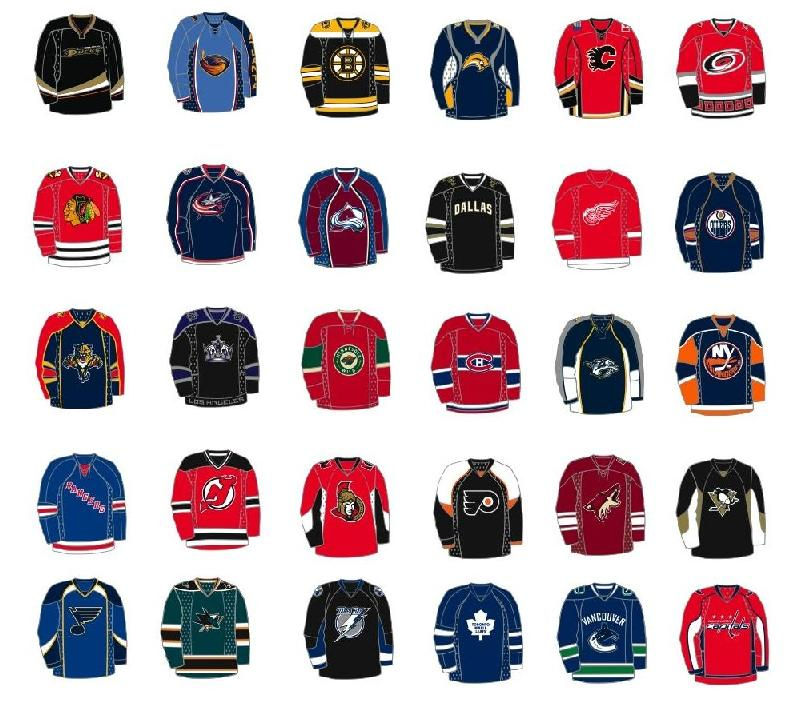2007-08 Reebok Color NHL Jersey Pins