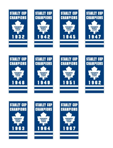 11 Toronto Maple Leafs Stanley Cup Championship Banner Pins