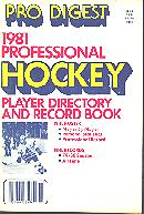 Pub  3770 - Pro Digest<br />1981 Professional Hockey Player Directory And Record Book