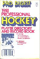 Pub  3825 - Pro Digest<br />1981 Professional Hockey Player Directory And Record Book