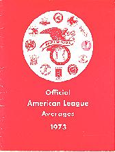 Pub 3853 - 1973 Official American League Averages
