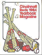 Pub 3861 - 1984 Cincinnati Reds Official Yearbook Magazine