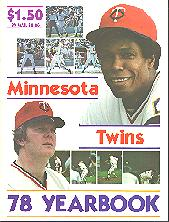 Pub 3872 - 1978 Minnesota Twins Yearbook