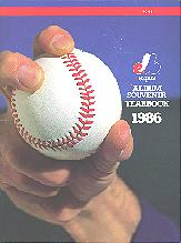 Pub 3882 - 1986 Montreal Expos Yearbook