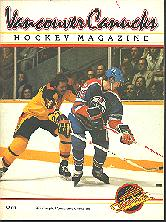 Pub 4463 - Oct. 9, 1982 - Edmonton Oilers vs Vancouver Canucks NHL Program