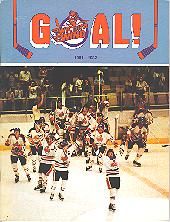Apr. 17, 1982 Indianapolis Checkers vs Wichita Wind CHL Playoff Program