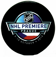 2010 NHL Premiere Prague souvenir puck